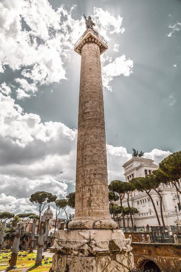 trajan kolonn arkivfoto