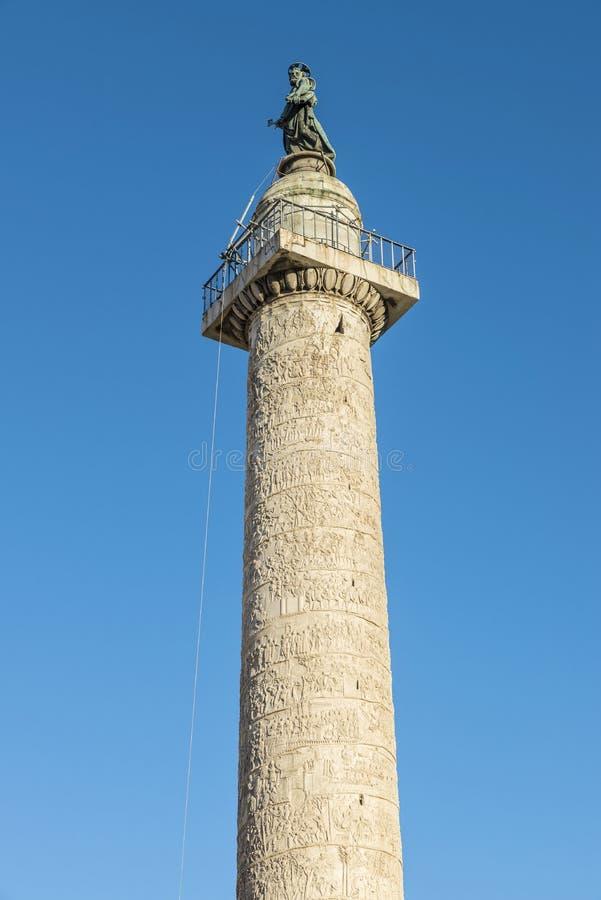 Trajan kolonn i Rome, Italien arkivbilder