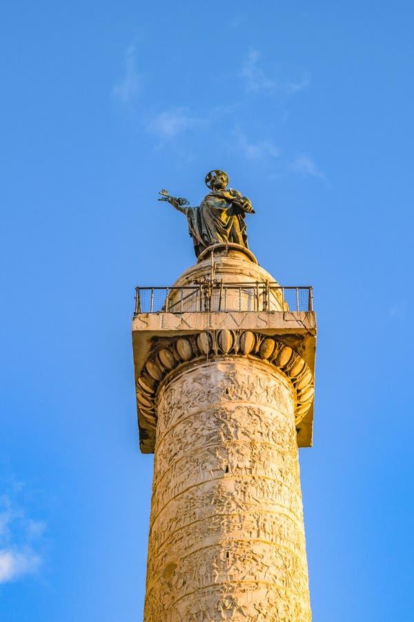 Trajan kolonn, Rome, Italien fotografering för bildbyråer