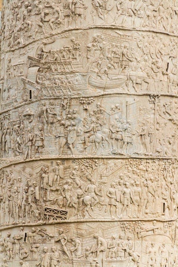 Trajan kolonner i Rome royaltyfri foto