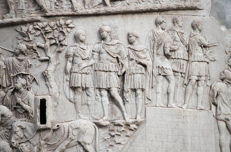 Trajan kolumna w Rzym fotografia stock