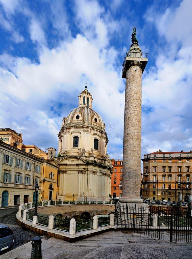 Trajan's Column, Rome royalty free stock images
