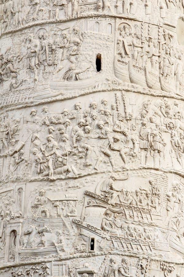 Trajan's column in Rome Italy royalty free stock photography