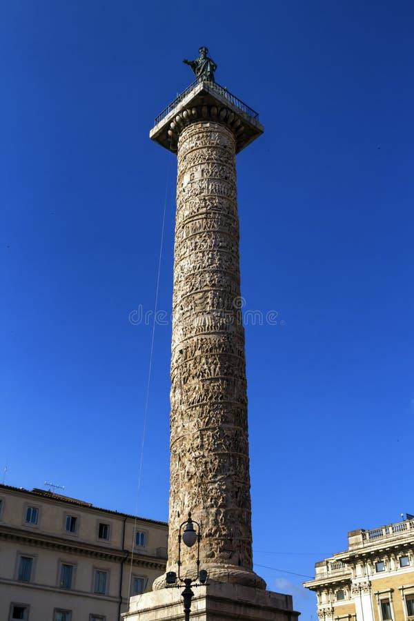 Trajan`s Column, Rome, Italy stock photography