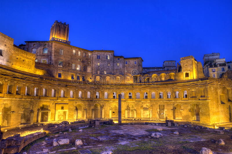 Trajan's forum, Traiani, Roma, Italy, hdr stock images