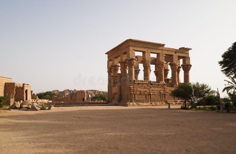 Trajan's Kiosk in Philae stock photo