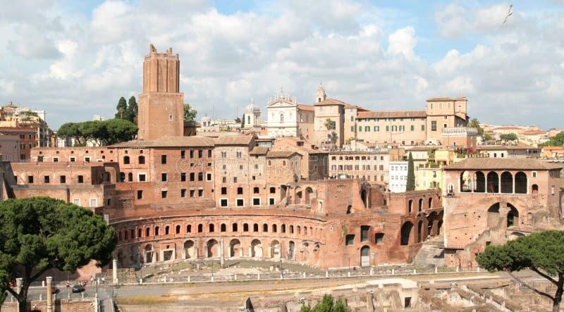 Trajan's market and Fori Imperiali royalty free stock image