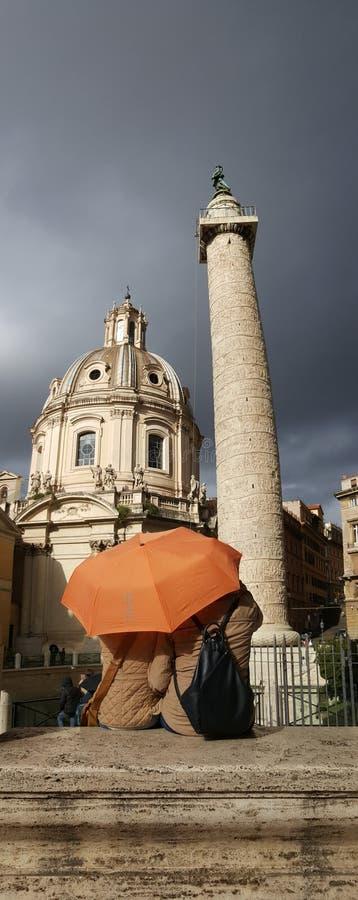 Trajan' s-Spalte, Rom, Italien lizenzfreies stockfoto
