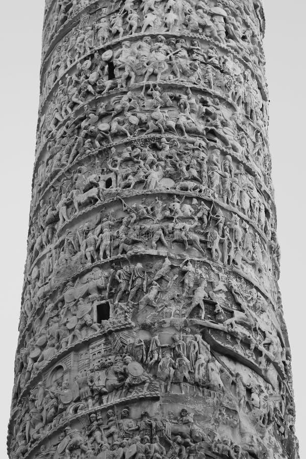 Trajans专栏,罗马,意大利-细节 免版税库存照片
