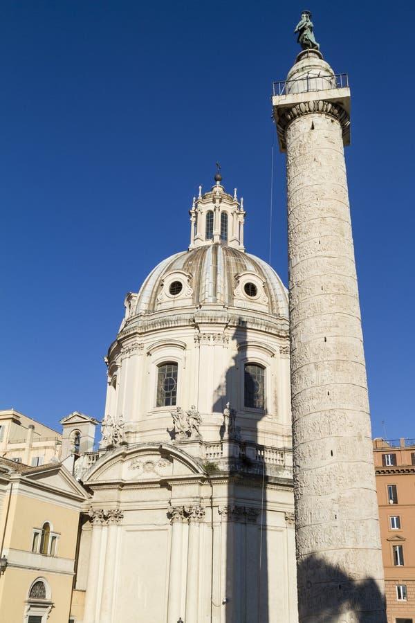 Trajanskolom Rome royalty-vrije stock afbeeldingen