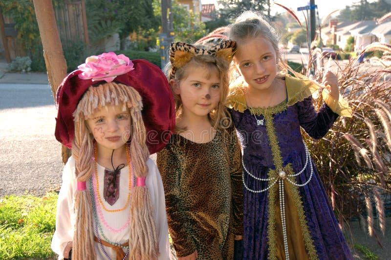 Traje 2 das meninas fotografia de stock royalty free