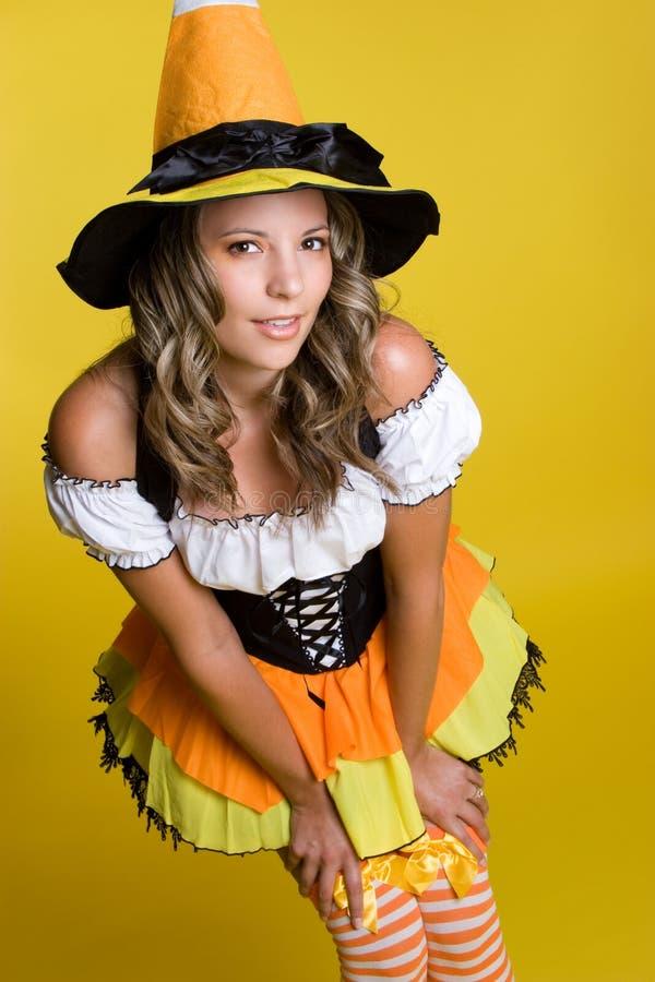 Traje da bruxa de Halloween imagem de stock