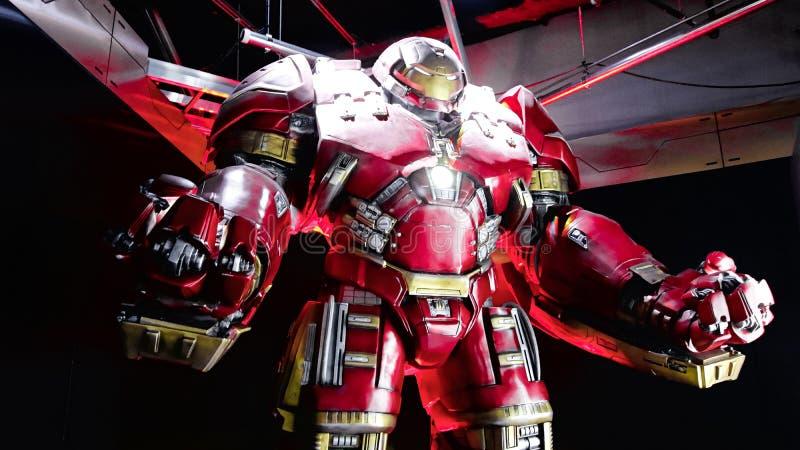 Traje de Buster Iron Man do casco foto de stock royalty free