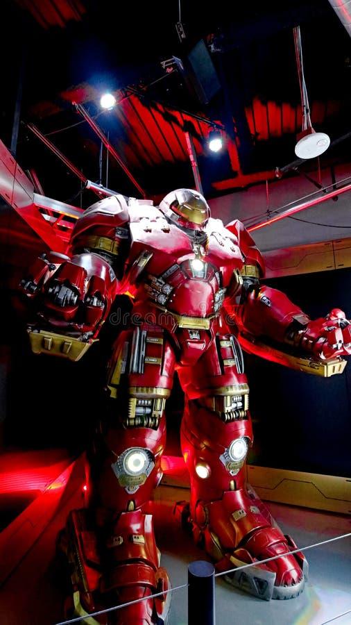 Traje de Buster Iron Man do casco imagens de stock