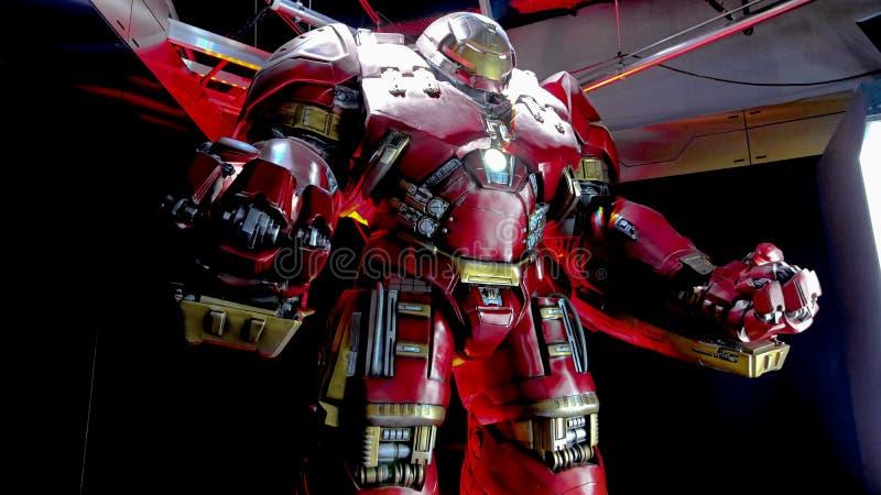 Traje de Buster Iron Man do casco fotos de stock