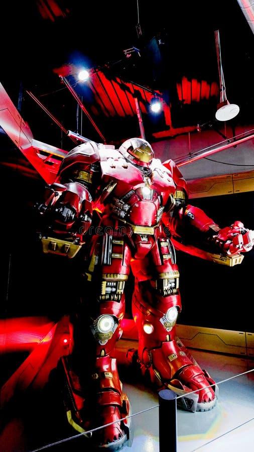 Traje de Buster Iron Man do casco imagens de stock royalty free