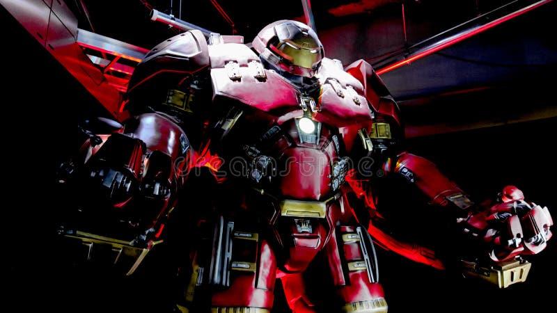 Traje de Buster Iron Man do casco fotografia de stock