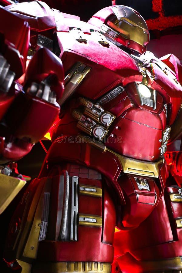 Traje de Buster Iron Man do casco foto de stock