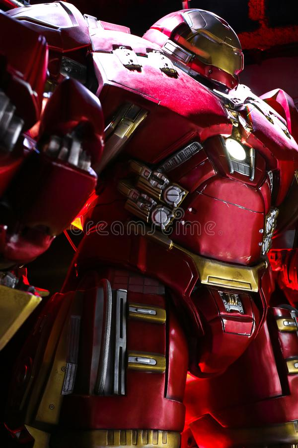 Traje de Buster Iron Man do casco fotografia de stock royalty free