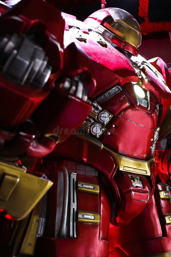Traje de Buster Iron Man do casco imagem de stock