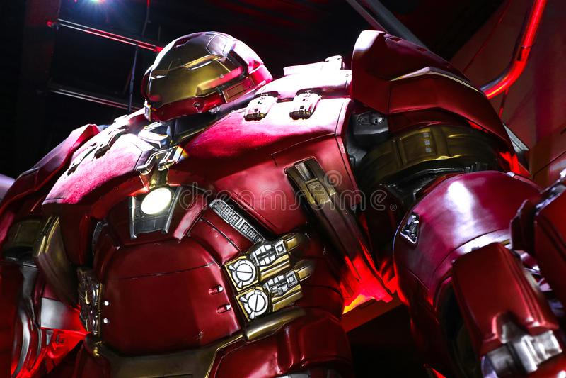 Traje de Buster Iron Man do casco fotos de stock royalty free