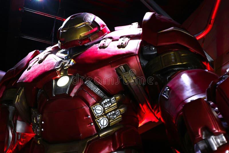 Traje de Buster Iron Man do casco imagem de stock royalty free