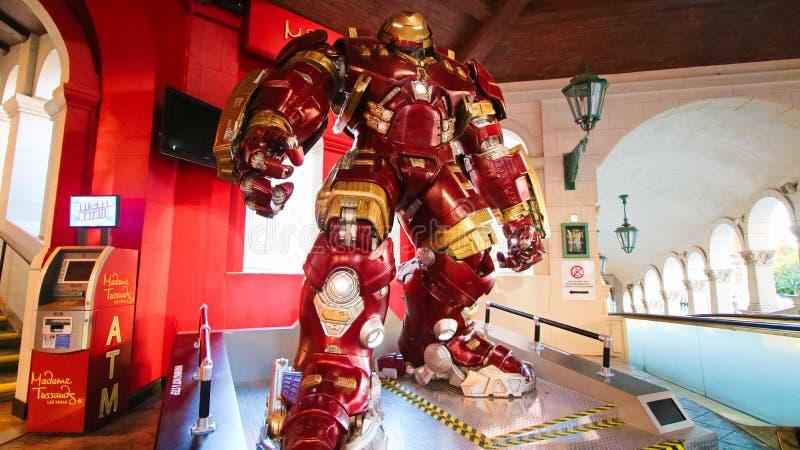 Traje de Buster Iron Man do casco no museu da senhora Tussauds fotografia de stock royalty free