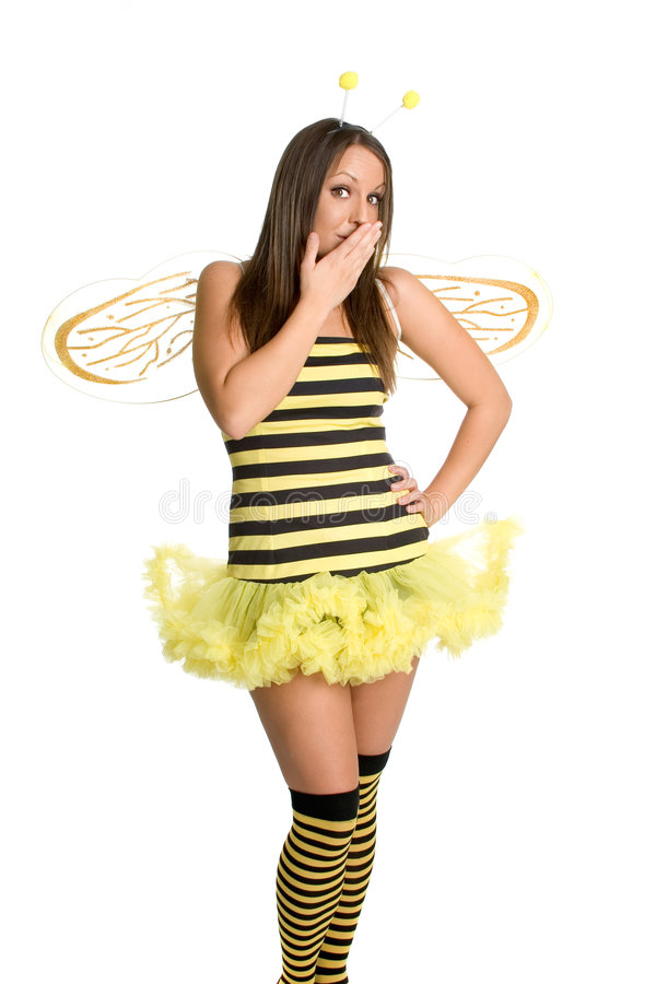 Traje de Halloween da abelha fotografia de stock