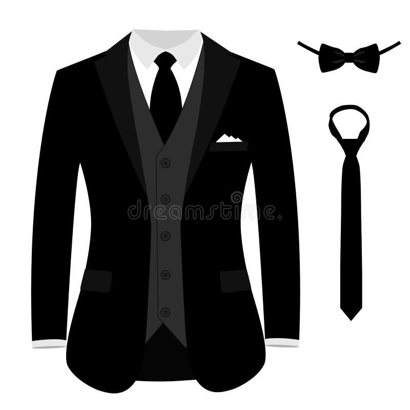 Traje del ` s de los hombres de la boda, smoking stock de ilustración