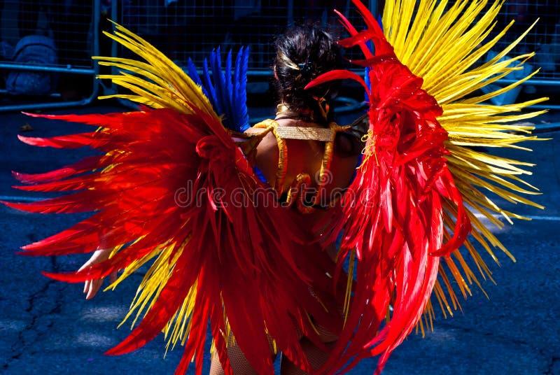 Traje do carnaval de Notting Hill fotos de stock