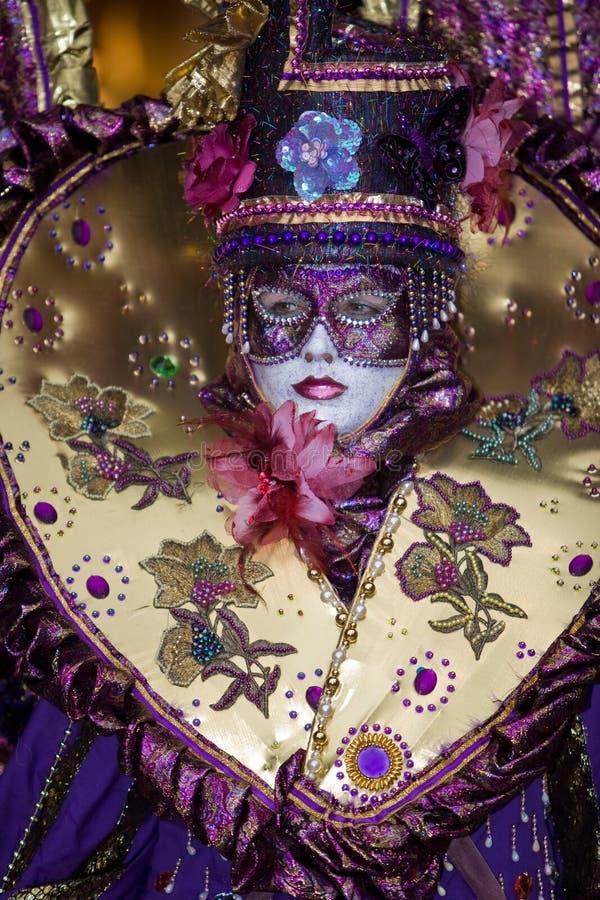 Traje do carnaval de Veneza foto de stock royalty free
