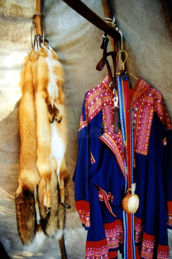 Traje do nativo americano imagem de stock