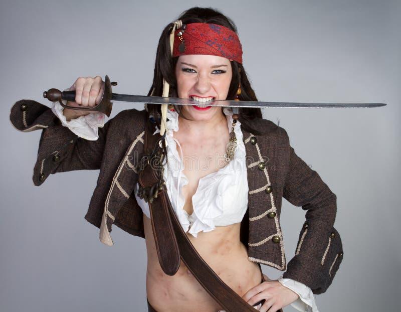 Traje do pirata de Halloween imagens de stock royalty free