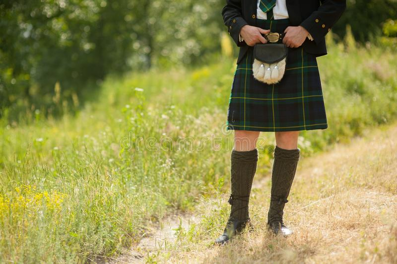 Traje escocês do kilt fotografia de stock