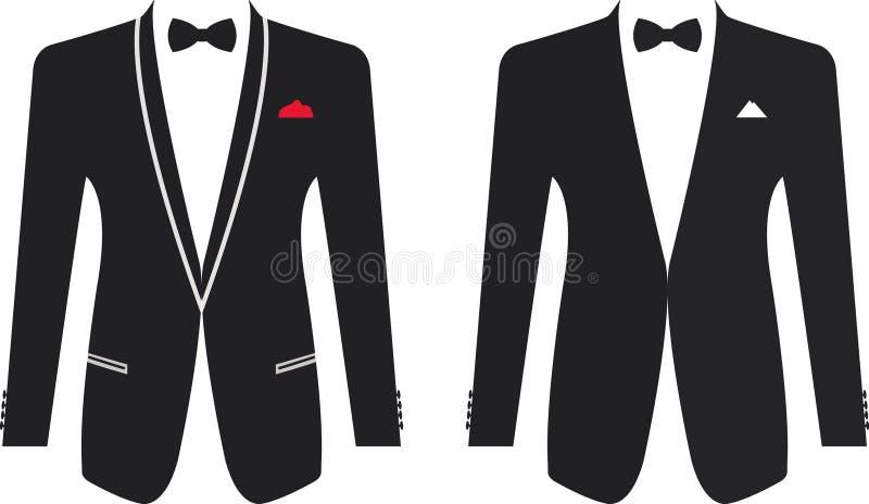 Traje formal de los hombres en un fondo blanco ilustración del vector