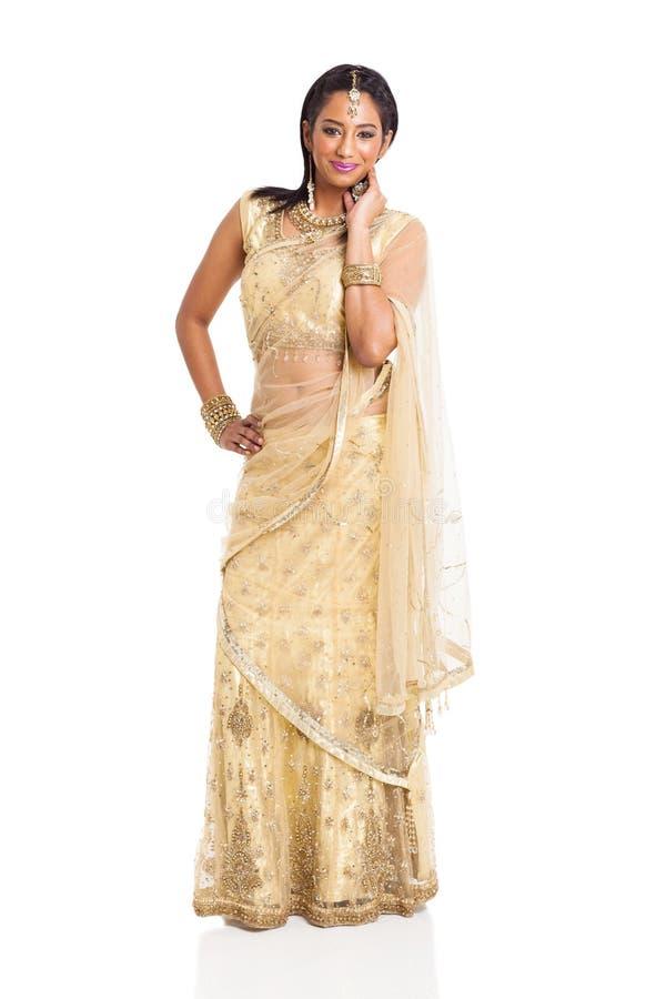 Traje indiano do saree imagens de stock