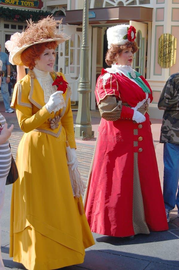Traje retro do vestido no mundo Orlando de Disney imagem de stock