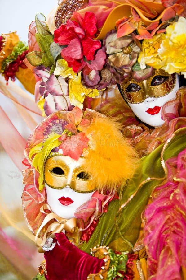 Traje Venetian Colorido Fotos de Stock Royalty Free