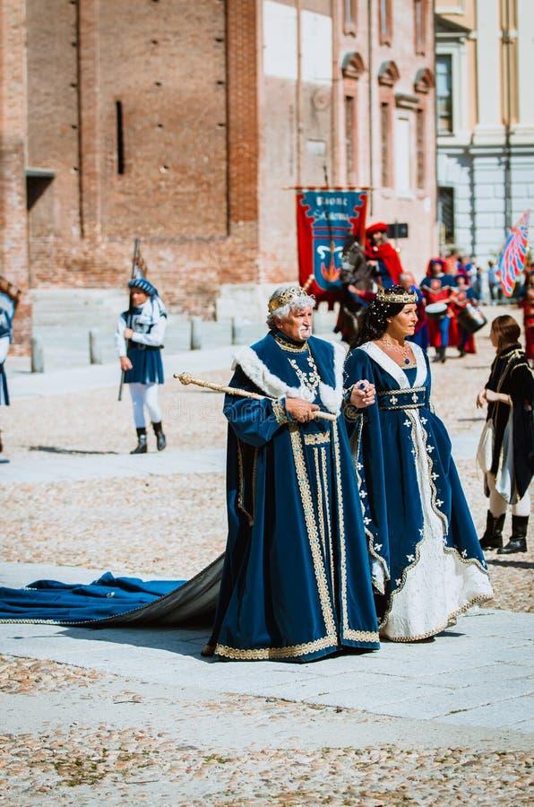 Trajes medievais foto de stock