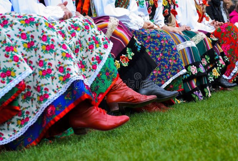 Trajes polacos tradicionales fotografía de archivo