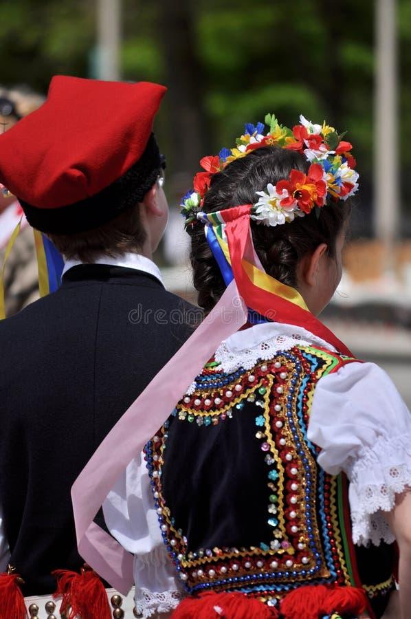 Trajes populares tradicionales polacos fotografía de archivo libre de regalías