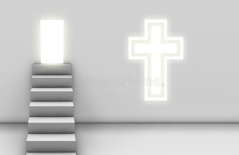 Trajeto ao salvação ilustração do vetor
