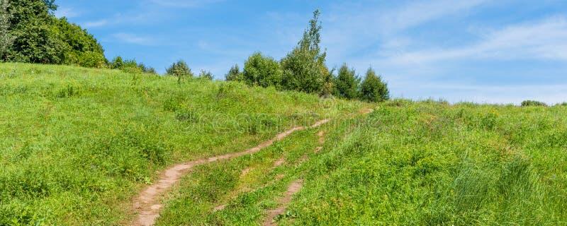 Trajeto através de um prado nos montes em um dia de verão foto de stock