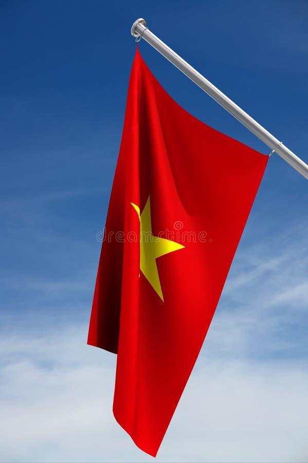 Trajeto da bandeira w/clipping de Vietnam ilustração royalty free