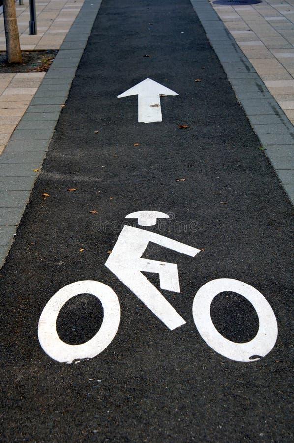 Trajeto da bicicleta fotografia de stock royalty free