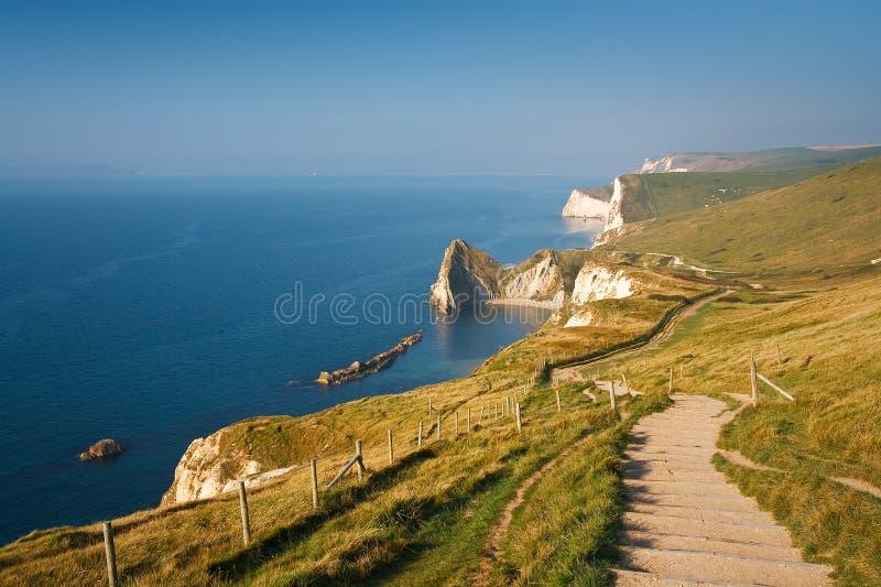 Trajeto da costa em Dorset, Reino Unido imagem de stock royalty free