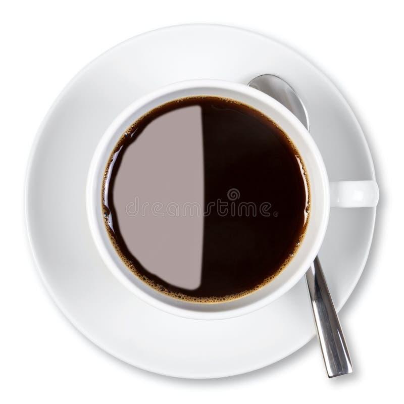Trajeto de grampeamento isolado chávena de café. foto de stock royalty free