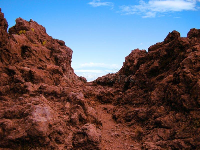 Trajeto de Haleakala fotografia de stock