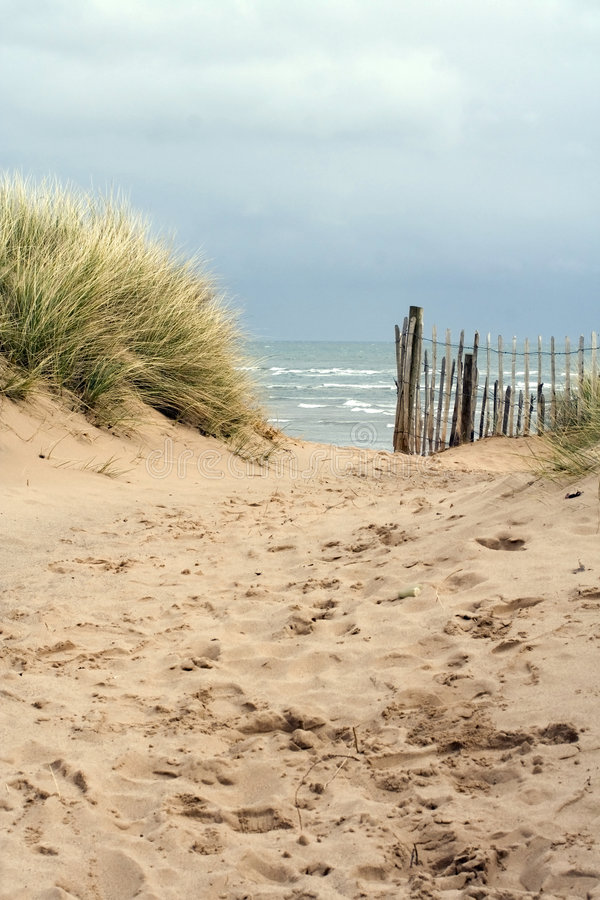 Trajeto de Sandy à praia fotografia de stock