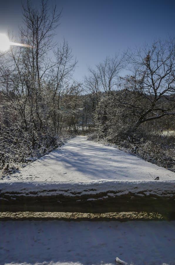 Trajeto de Snowy imagem de stock